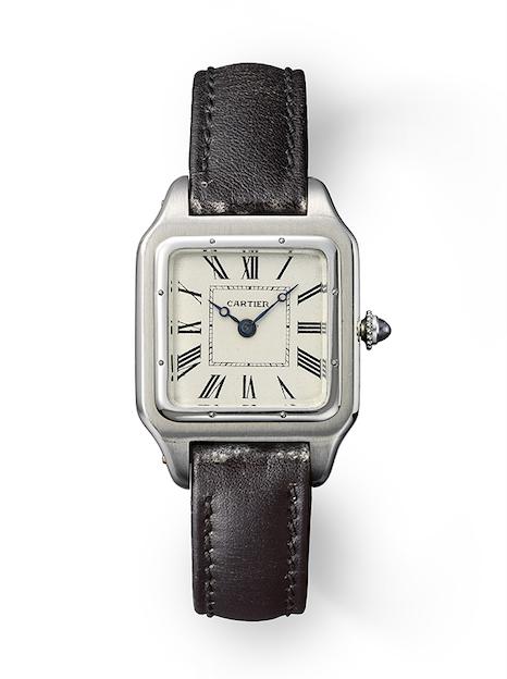 santo de Cartier santos Dumont reloj estilo